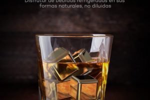 cubitos de acero inoxidable para whisky